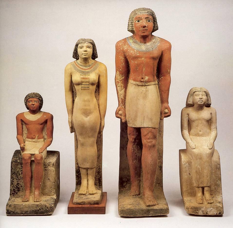 Примеры скульптур Древнего Египта.