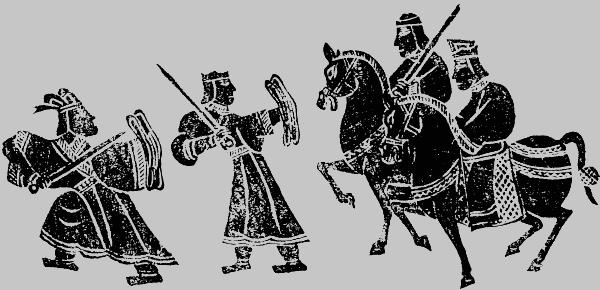 показаны воины империи Хань. политика имеператоров восточной Хань