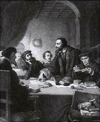 Кальвин  -теоретик Реформации в Швейцарии.