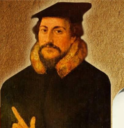 портрет Жана Кальвина - реформатора, оказавшего большое влияние на мир.