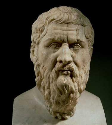 Портрет Платона. Главного ученика Сократа.