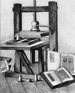 История возникновения печати. Печатный станок